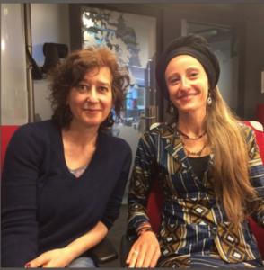 Ariane with RFI's Alison Hird
